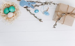 Картинка игрушка, яйца, весна, кролик, пасха, Праздник, toy, верба, rabbit, spring, Easter, eggs, Holiday, Подарок, Gift, …