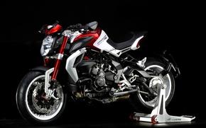 Картинка мото, мотоцикл, байк, bike, motorcycle, фон black, Agusta, Moto, superbike, sportbike, Brutale, фон черный, MV …