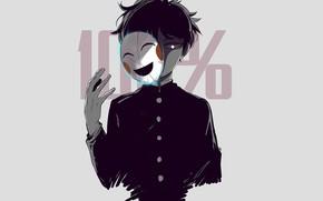 Картинка аниме, арт, парень, Кагеяма Шигео, mob psycho 100