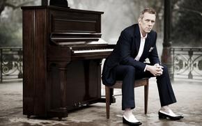 Обои писатель, пианино, screenwriter, Хью Лори, режиссёр, рояль., сценарист, Park, Hugh Laurie, актёр, пианист, музыкант, writer, ...