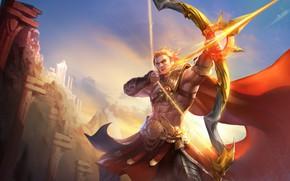 Картинка оружие, лук, парень, блондин, Arena of Valor