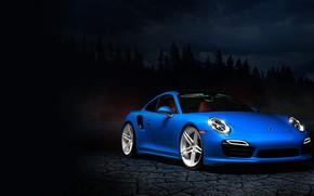 Картинка 911, Porsche, Blue, Night, Stuttgart, VAG