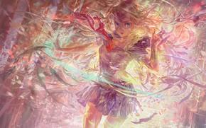 Картинка взгляд, девушка, аниме, арт