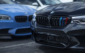 Картинка BMW, Blue, Black, F10, Sight, F90