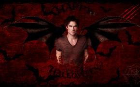Картинка крылья, вампир, летучая мышь, сериал, дневники вампира, halloween, хеллоуин, деймон сальваторе