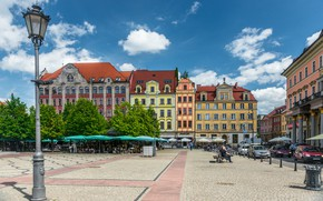 Обои Улица, Польша, Здания, Архитектура, Street, Poland, Town, Architecture, Вроцлав, Wroclaw