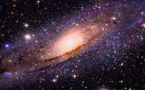 Картинка космос, звезды, свет, тьма, вселенная, space