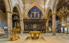 Обои interior, Wakefield Cathedral Rood Screen, West Yorkshire, UK