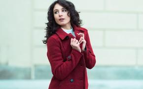 Картинка лицо, модель, пальто, Alice