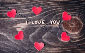 Картинка любовь, сердце, сердечки, love, happy, I love you, heart, wood, romantic, Valentine's Day