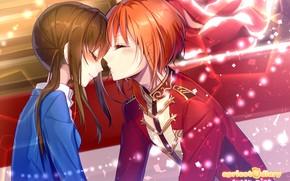 Картинка аниме, девочка, парень, Ensemble Stars!