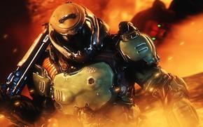 Картинка шлем, броня, shotgun, doom, protagonist, Doomguy