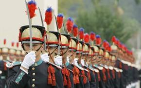 Картинка sword, soldiers, military, duty, ken, blade, Brazil, uniform, honor, graduation, High School in Rio de ...