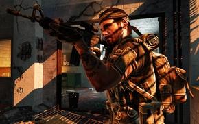 Картинка оружие, игра, повязка, call of duty, напарник, трущебы, call of duty black ops