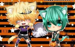 Картинка аниме, хеллоуин, Katekyo Hitman REBORN!, Belphegor, Fran, мльчики, Mammon