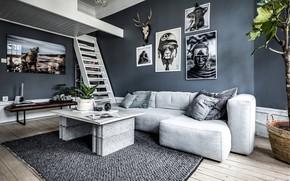 Картинка стиль, интерьер, гостиная, Apartment in Håven