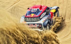 Картинка Песок, Mini, Спорт, Пустыня, Скорость, Rally, Dakar, Дакар, Ралли, Buggy, Багги, X-Raid Team, 310, MINI …