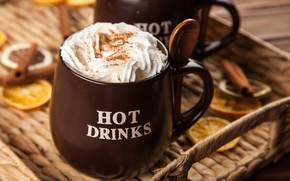Картинка кофе, шоколад, сливки, чашка, hot, корица, cup, drink, coffee, cream, латте, chocalate, latte