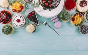 Картинка Сладости, пирожные, тортик, макароны
