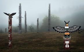 Картинка Cormorant Island, Alert Bay, Totem poles