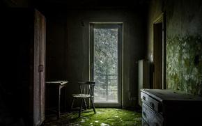 Картинка комната, мебель, дверь