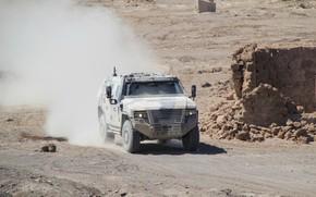 Картинка car, weapon, dust, armored, military vehicle, armored vehicle, armed forces, military power, 049, war materiel
