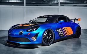 Картинка гоночное авто, 2018, Alpine, GT4, A110