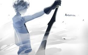 Картинка взгляд, девушка, оружие, аниме, арт, Houseki no Kuni
