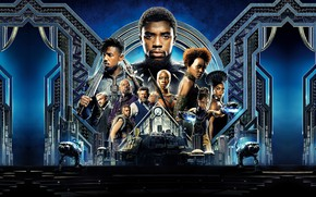 Обои Armor, EXCLUSIVE, 2018, Martin Freeman, Chadwick Boseman, You Challa, Michael B. Jordan, Andy Serkis, Panther, ...