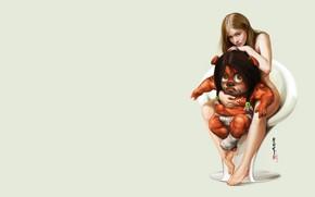 Картинка девушка, рендеринг, арт, 2D, Heri Irawan