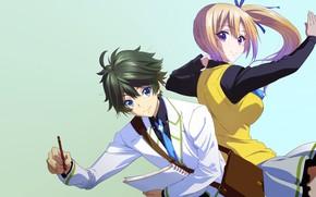 Картинка anime, japanese, bishojo, seifuku, Musaigen no Phantom World, Mai Kawakami, Myriad Colors Phantom World, Haruhiko …