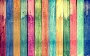 Обои фон, текстура, радуга, доски