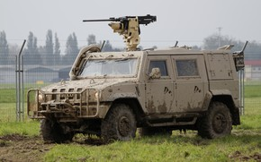 Картинка многоцелевой, армейский, бронированный автомобиль, IVECO LMV
