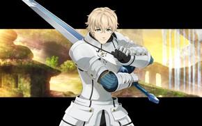 Обои меч, доспехи, аниме, Fate / Grand Order