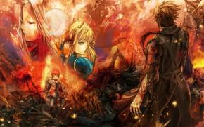 Картинка kawaii, fire, flame, moon, chaos, phoenix, anime, boy, survivor, asian, children, oriental, asiatic, sugoi, bishojo, …