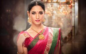 Обои sari, Jewelery, lips, saree, model, cute, indian, beauty, pose, bollywood, fashion, celebrity, sexy, figure, beautiful, ...