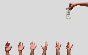 Картинка деньги, руки, доллары