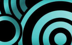 Картинка black, blue, circles, 5670