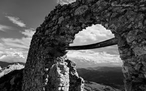 Картинка арка, магия чб фото, Monochromatic, Claudio Marinangeli