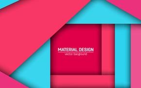 Картинка vector, геометрия, розовый фон, design, голубой фон, color, малиновый, material
