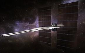 Картинка звёзды, зонд, AI Probe for Interstellar colonisation and explora, high res deployed