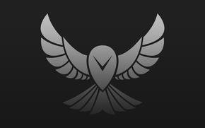 Картинка сова, птица, вектор, лого, арт