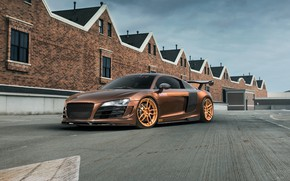 Картинка Audi, Supercharged, aka, R8, SKID, MRQ