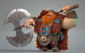 Картинка viking, 3D, лабрис, otavio liborio, Bjorn!