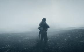 Обои Electronic Arts, Battlefield 1, туман, солдат, война, игра