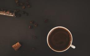 Картинка кофе, зерна, кружка, напиток