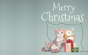 Картинка праздник, подарок, арт, Новый год, детская, Merry Christmas and Happy New Year, Jordi Villarroya