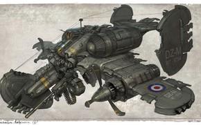 Картинка оружие, винты, аппарат, March of War, Light Skirmisher gun ship