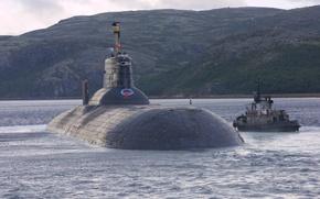 Картинка лодка, субмарина, подводная, атомная, проект 941, Северсталь