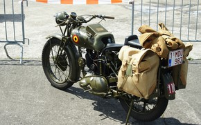 Картинка мотоцикл, военный, времен, второй, мировой войны